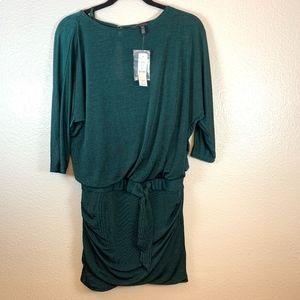 White House Black Market Green Dress BNWT